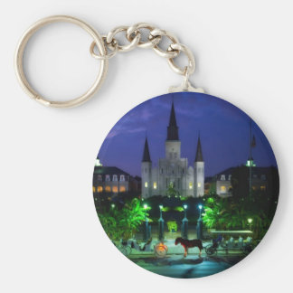 New Orleans at Night Key Chain