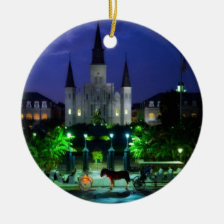 New Orleans at Night Christmas Tree Ornament