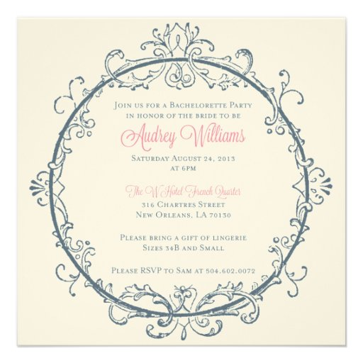 New orleans bachelorette party invitation square for Bachelorette party ideas new orleans