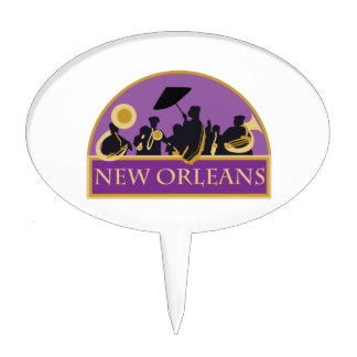 New Orleans Band Cake Topper