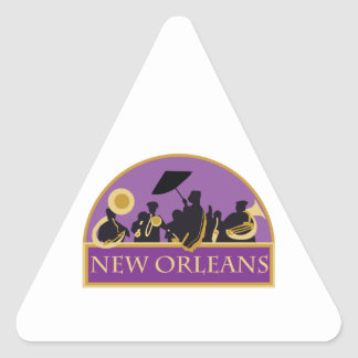 New Orleans Band Triangle Sticker