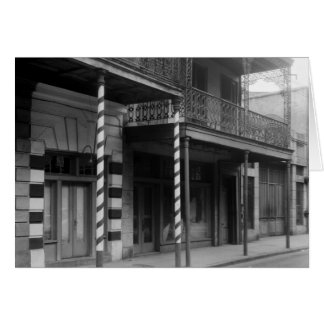 New Orleans Barbershop, 1930s Greeting Card