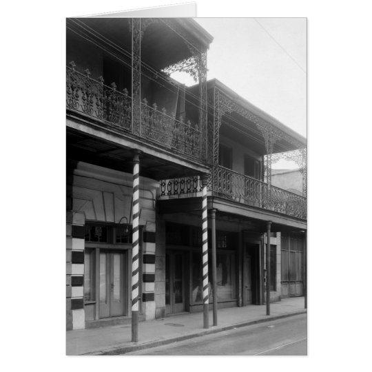 New Orleans Barbershop, 1930s Card