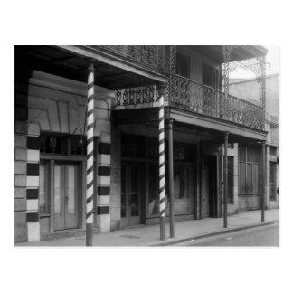 New Orleans Barbershop, 1930s Postcard