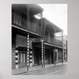 New Orleans Barbershop, 1930s Print