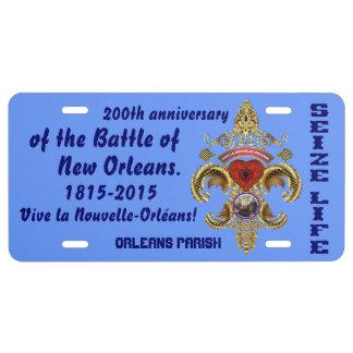 New Orleans Battle Bicentennial Please Read Below License Plate