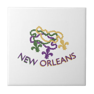 New Orleans Beads Small Square Tile