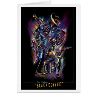 """New Orleans - Black Coffee"" (Blank Inner) Card"