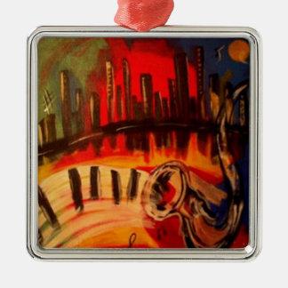 """New Orleans Blues"" by Linda Powell~Original Metal Ornament"