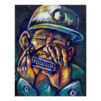 new orleans blues harmonica poster