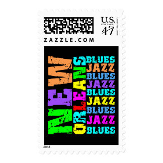 NEW ORLEANS BLUES JAZZ POSTAGE STAMP