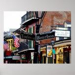 New Orleans Borbón y impresión del poster de la ca