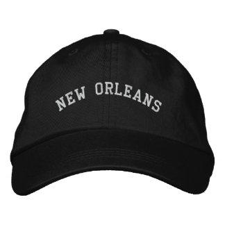 New Orleans bordó negro ajustable básico del casqu Gorras De Béisbol Bordadas