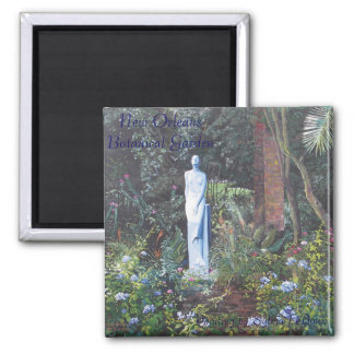 New Orleans Botanical Garden 2 Inch Square Magnet