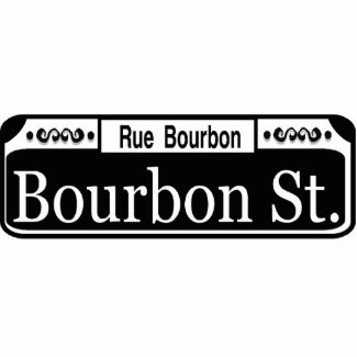 New Orleans Bourbon Street Sign Cutout