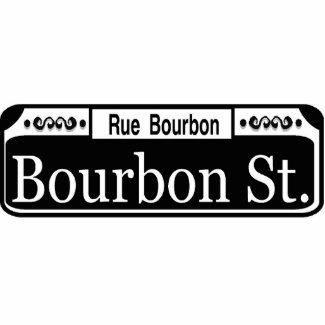 New Orleans Bourbon Street Sign Cutout