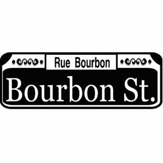 New Orleans Bourbon Street Sign Acrylic Cut Out