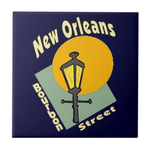 New Orleans Bourbon Symbols Tile Zazzle