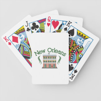 New Orleans Building Bicycle Playing Cards
