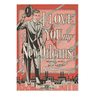 New Orleans Large Business Cards (Pack Of 100)