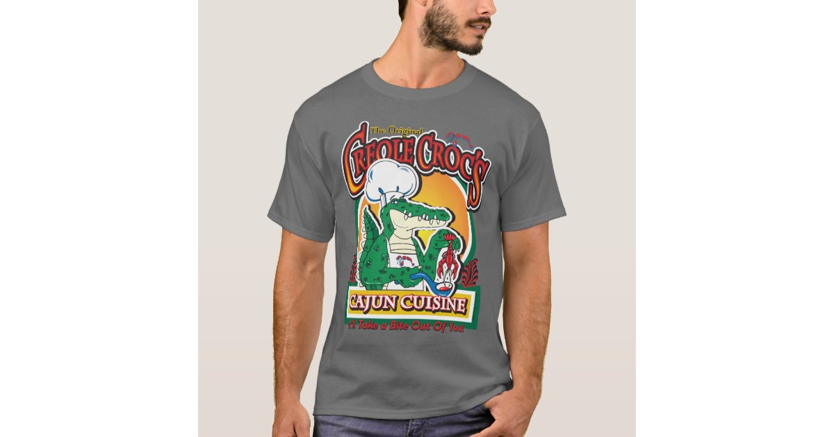 New orleans cajun crocodile t shirt zazzle for T shirt printing new orleans