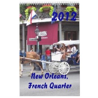 New Orleans, calendario del barrio francés 2012