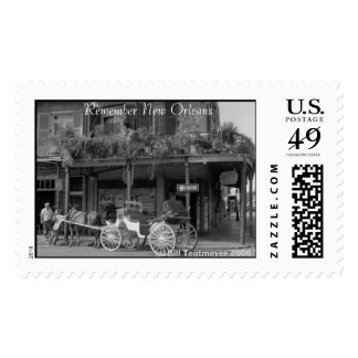 New Orleans Carriage Postage Stamp