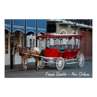New Orleans Carriage Ride Poster