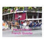 New Orleans, casa de Luisiana y carro Tarjetas Postales