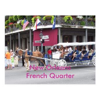 New Orleans casa de Luisiana y carro Tarjetas Postales