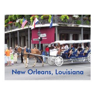 New Orleans casa de Luisiana y carro Tarjeta Postal