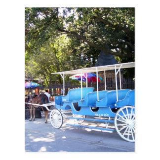 New Orleans casa de Luisiana y carro Postales