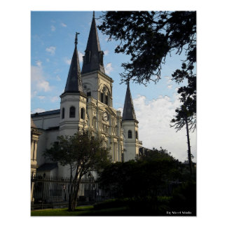 New Orleans Cathedral, 3D Style Poster