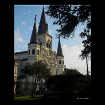 New Orleans Cathedral, 3D Style posters