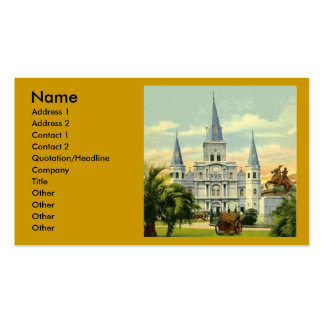 New Orleans Cathedral Card Template Business Card