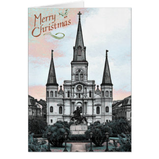 New Orleans Cathedral Christmas Card