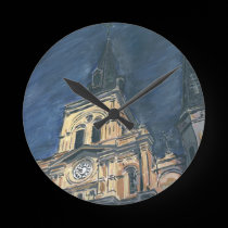 New Orleans Cathedral Clock Face wall clocks