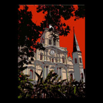 New Orleans Cathedral Fauvist Colors posters
