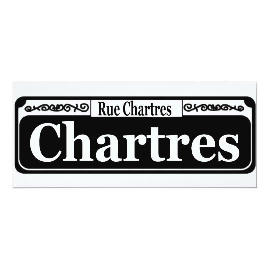 New Orleans Chartres St Sign Card