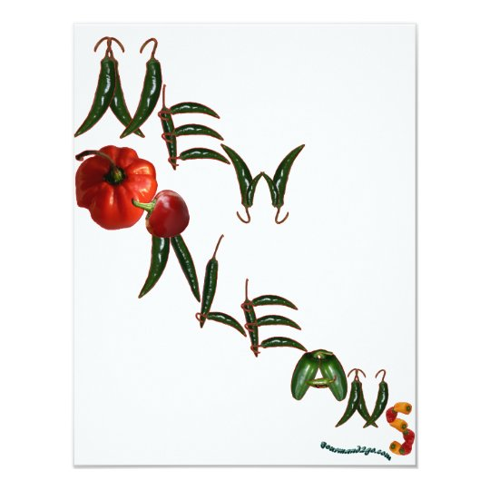New Orleans Chili Peppers Card