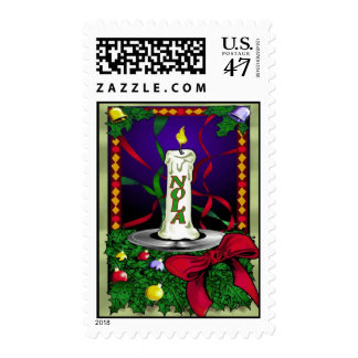 New Orleans Christmas Candle Postage