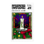 New Orleans Christmas Candle Postage Stamps