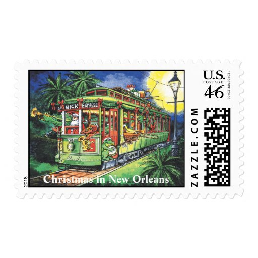 New Orleans Christmas Streetcar Stamps