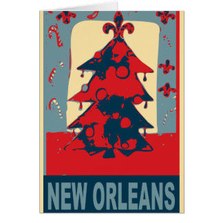 New Orleans Christmas Tree Card