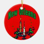 New Orleans Christmas Tree Christmas Ornament