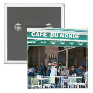 New Orleans Coffee and Beignets Pinback Buttons
