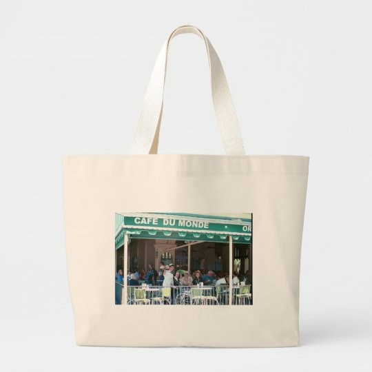 New Orleans Coffee and Beignets Large Tote Bag