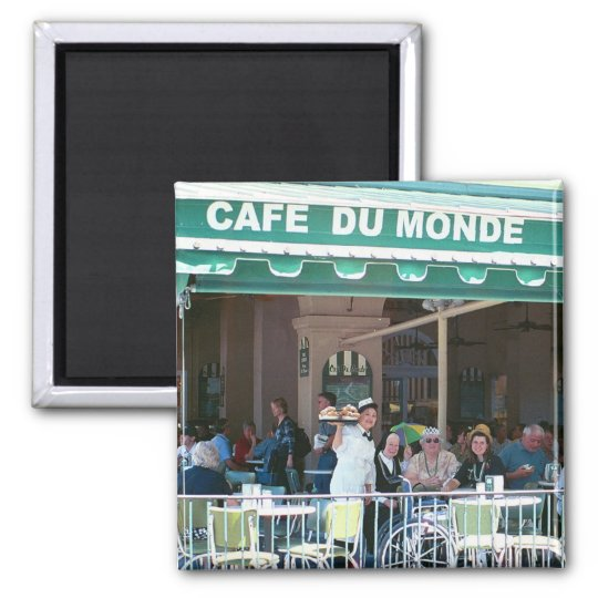 New Orleans Coffee and Beignets Magnet