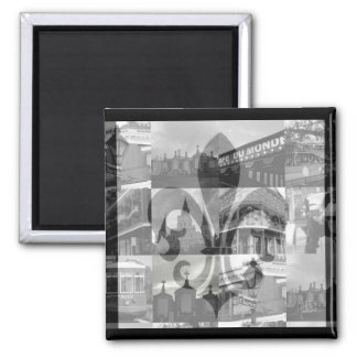 New Orleans Collage [Magnet] 2 Inch Square Magnet
