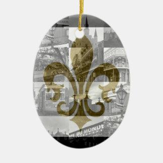 New Orleans Collage [Ornament] Ceramic Ornament